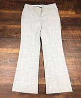 Express Design Studio EDITOR Light Gray Flare 2S SHORT Career Womens Dress Pants