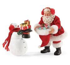 "Dept. 56 Possible Dreams Santa & Snowman ""GIFT EXCHANGE"" Christmas  #4052464"