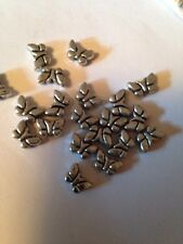 20 5mmX8mm Butterfly Shape Pewter Beads L@@K