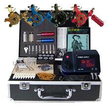 Pro Complete 4 Machine Gun Set Tattoo Kit all equipment Supply