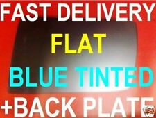 MERCEDES W210 E-CLASS 1995-99 WING MIRROR GLASS FLAT BLUE +PLATE RIGHT OR LEFT