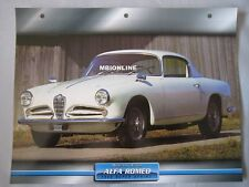 Alfa Romeo 1900 Super Sprint Dream Cars Card