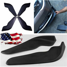 US Shipping 2x Black ABS Car Bumper Spoiler Scratch Resistant Wing Front Shovel