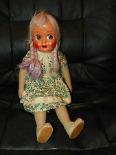 Vintage Antique Jointed Ethnic Collectible DOLL Plastic/Paper Mache Face POLISH