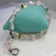 Tiffany & Co Rare Vintage 2002 Sterling Silver Rose Quartz Peridot Bead Necklace