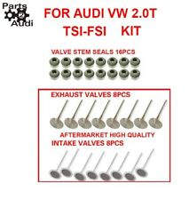 Engine Intake valve, Exhaust Valves, valve Stem seals, Kit Fits Audi VW 2.0T