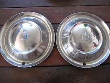 "1954 Plymouth 15"" Hubcaps, Wheel Covers, set of two"