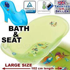 ENSEMBLE LARGE Lux 102cm longueur baignoire pour bébé Aqua vert +THERMOMÈTRE+