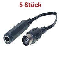 20cm Kabel Adapter 6,3mm Klinke Kupplung Buchse auf 5 poliger DIN MIDI Stecker