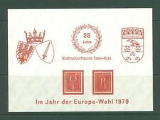 Block J18 Special Sheet 1979 Germany Philately
