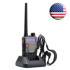Baofeng UV-5R+ Plus 136-174/400-520MHz FM Ham Two-way Radio HT + Free Earpiece
