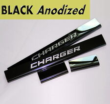 11-16 DODGE CHARGER LOGO Black Anodized STAINLESS STEEL DOOR SILL SILL GUARDS