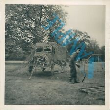 Orig WW2 Photo Operation Bodyguard D Day Deception Inflatable Army Truck
