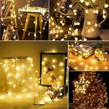 USB Battery LED Bulb Garland Lights Fairy String Waterproof Holiday Lamp Outdoor