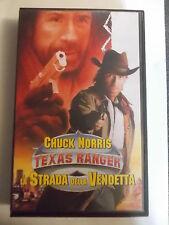 CHUCK NORRIS TEXAS RANGER LA STRADA DELLA VENDETTA VHS EX NOLEGGIO