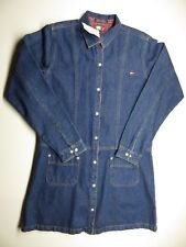 NWT VTG TOMMY HILFIGER Tommy GIRL Blue Denim Button Up Dress Women's Size XL