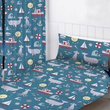NAUTIQUE MER MARINE rideaux prêt à l'em Ploi chambre 168cm X 183cm