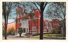 BATON ROUGE, LA Louisiana    METHODIST CHURCH    1942 Linen Postcard