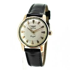 Gents Longines Conquest 9002 - Pink Gold Filled - Beautiful Enamel Back - 35mm