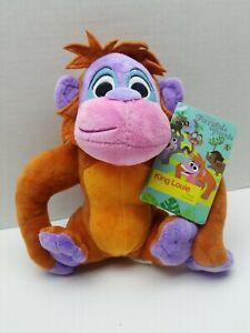 "Disney Store Furrytale Friends Jungle Book KING LOUIE 8""  Plush NWT Soft"