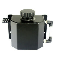 Universal Car Oil Catch Can Fittings Breather Tank Crank Breather Square Black