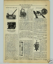 1927 PAPER AD Weaver Service Garage Truck Lift Jack Ambulance Engine Car Hoist