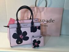 Kate Spade Cameron Grand Flora Med.Satchel Bag Serendipity & Small Zipper Wallet