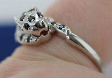 SAPPHIRE AND DIAMOND PANTHER LEOPARD STERLING SILVER RING 925