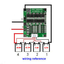 4S Battery Protection Board For 14.8V 30A Li-ion Lithium 18650 Battery Balance