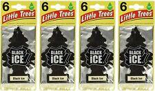Little Trees Black Ice Hanging Paper Tree Car Air Freshener - 24 PCS