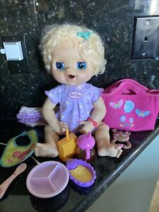 """2010 Baby Alive  REAL SURPRISES 16"""" Interactive Doll Some Accessories"""