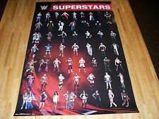 WWE Superstars & Divas Poster 22 X 34 Out of Print WWF Out of Print