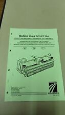 RANSOMES Magna 250 & Sport 200 Direct and Belt Drive Parts & instruction Manual