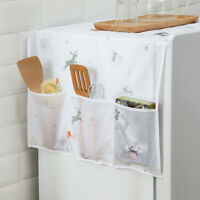 HO_ ALS_ Household Washing Machine Refrigerator Dust Cover Cloth Organizer Pouch