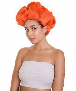 Womens Short Length Orange Straight Pinned Up RuPaul Wig HW-6699