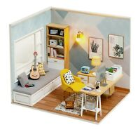 DIY Doll House Wooden Small Home Dollhouse Kids Gift Furniture Toys Miniature