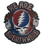 "Grateful Dead Pin Steal Your Face ""We Are Everywhere"" 1"" 1/2 inch Lapel Hat Pin"