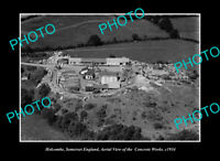 OLD LARGE HISTORIC PHOTO HOLCOMBE SOMERSET ENGLAND, AERIAL VIEW CONCRETE Co 1934