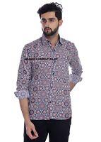 Indian Hand Block Bedruckte Baumwolle Hemd Man's Strand Partykleidung Lang Hemd