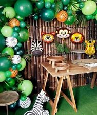 Safari Jungle party Animal Balloons Garland Arch Kit Baby shower Kids 🦁🦓🙉🦒