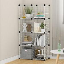 8 Cube Storage Shelf Rack DIY Wire Grid Bookcase Display Cabinet Shelving