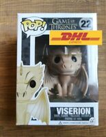 Funko Pop Viserion 22 Game of Thrones Rare Vaulted Free pop protector AUTHENTIC