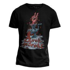 """T-Shirt """"DURCHGEDREHT"""" Fleischwolf Hand Metal Gothic Tattoo Grafik Illustration"""