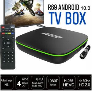 TV BOX ANDROID 10.0 4K FULL HD 1080P 4GB 64GB RAM SMART DECODER WIFI