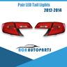 Pair For Toyota Camry 2012 2013 2014 ASV50 AVV50 Sedan LED Tail Lights Clear Red