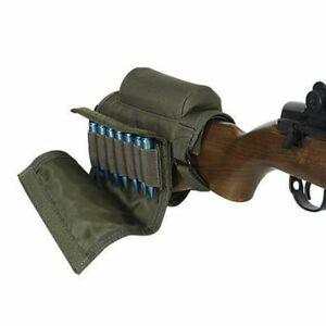 Tactical Rest Cheek Ammo Pouch Rifle Buttstock Holder Carrier Shell 12 Gauge