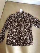 Animal Print Satin Feel Shirt, Size S/M , BNWT