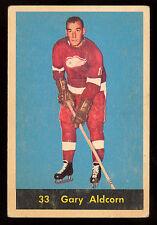 1960 61 PARKHURST HOCKEY #33 GARY ALDCORN EX+ DETROIT RED WINGS Card