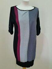 Calf Length Viscose 3/4 Sleeve Jumper Dresses