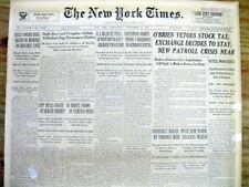 1933 NY Times newspaper gangster MACHINE GUN KELLY captured by FBI in Memphis TN